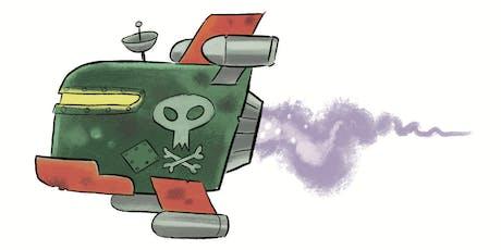 Make your own UFO Alien tickets