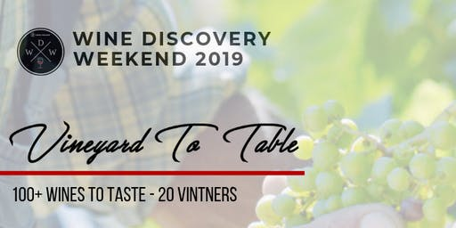 Wine Discovery Walkabout Tasting 2019