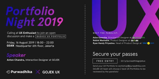 Portfolio Night 2019 With GOJEK UX