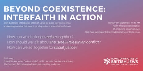 Beyond Coexistence: Interfaith in Action tickets