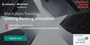 Blockchain Training for Innovation Leaders in the Banki...