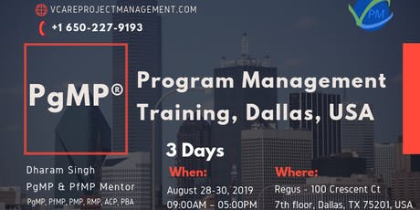 PgMP | Training | Classes | Boot Camp | Dallas | August | 2019 tickets