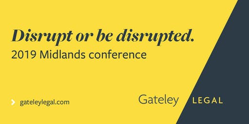Disrupt or be disrupted - 2019 Midlands Conference
