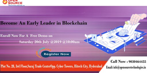 Blockchain Free Demo Session By The Domain Experts At Open Source Technologies
