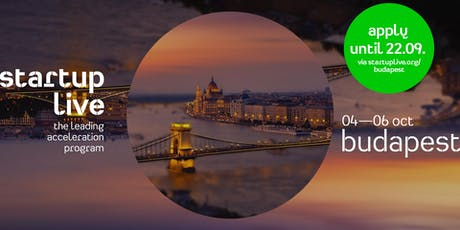 Startup Live Budapest — boost your startup idea tickets