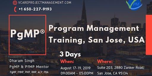 PgMP | Program Management Training | San Jose | August | 2019
