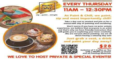 Morning Coffee Paint Party @ Smashed Pumpkin Cafe, Westgate tickets