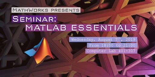MATLAB Essentials Seminar