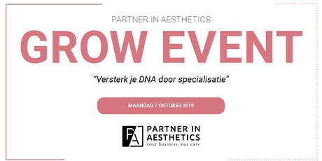 Partner in Aesthetics GROW Event tickets