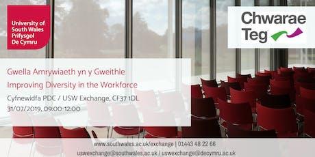 Improving Diversity in the Workplace by Chwarae Teg | Gwella Amrywiaeth yn y Gweithle gan Chwarae Teg tickets