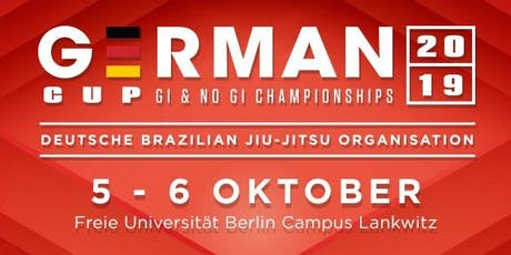 2019 DBJJO GERMAN CUP  - GI & NO GI Tickets