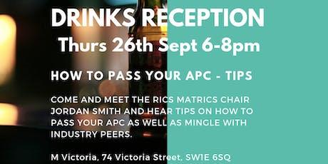 Drinks Reception - APC Tips tickets