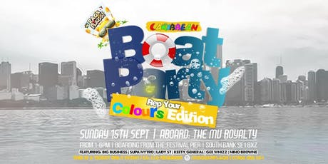 "MEMBERS ONLY!! TICKETS  ""Rep Your Colours"" Boat Party tickets"