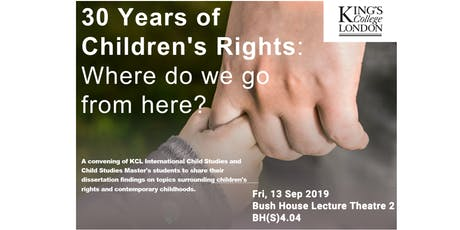 30 Years of Children's Rights: Where do we go from here? tickets