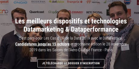 Le DataFestival, les Cas d'OR de la data associée au marketing billets