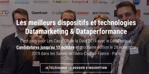 Le DataFestival, les Cas d'OR de la data associée au marketing