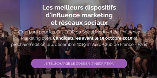 Le Grand Prix du Social Media et de l'Influence Marketing