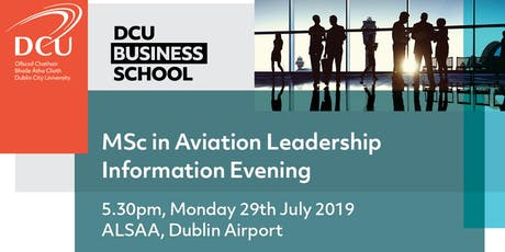 MSc in Aviation Leadership Information Evening tickets