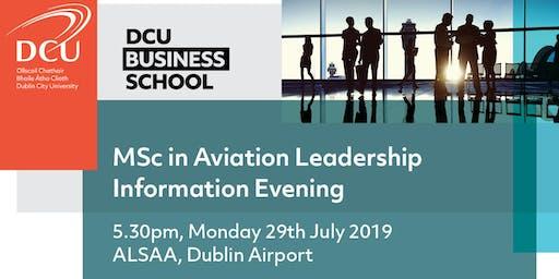 MSc in Aviation Leadership Information Evening