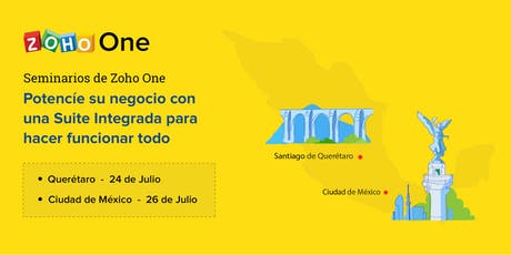 Seminario de Zoho One - ciudad de México entradas