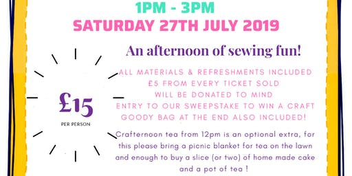 Crafternoon in aid of MIND