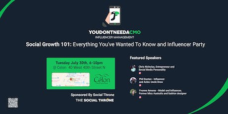 Social Growth 101: Everything You've Wanted To Know + Influencer Party tickets