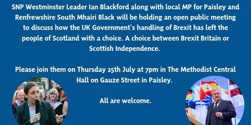 Public Meeting With Ian Blackford MP and Mhairi Black MP