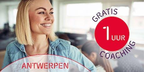 1 uur gratis coaching voor ondernemers - Antwerpen tickets