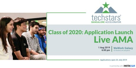Techstars Bangalore: Class of 2020 Application Launch AMA tickets