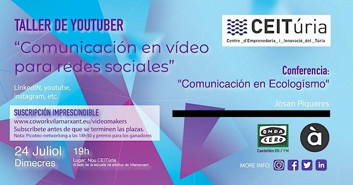 Taller Youtuber - Comunicación en vídeo para redes sociales image