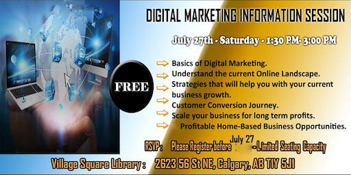 Digital Marketing Information Session