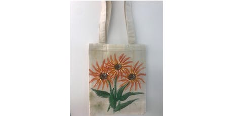 "Fundraiser for ""Closer to Free Ride"", painting a reusable tote bag tickets"