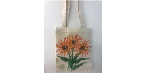 "Fundraiser for ""Closer to Free Ride"", painting a reusable tote bag"