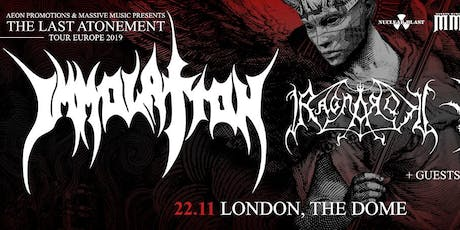 IMMOLATION/ RAGNAROK @ The Dome, London tickets