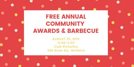Free Annual Community Awards & Barbecue tickets
