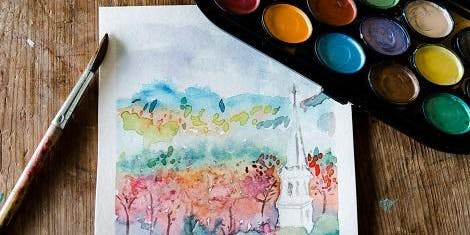 Outdoor Watercolor at Mt. Philo Farm & Vineyard Taught by Artist/Herbalist