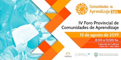 IV Foro Provincial de Comunidades de Aprendizaje - Salta 2019