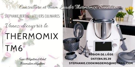 Venez découvrir le nouveau Thermomix TM6 aux Cuisines Dovy Awans biglietti