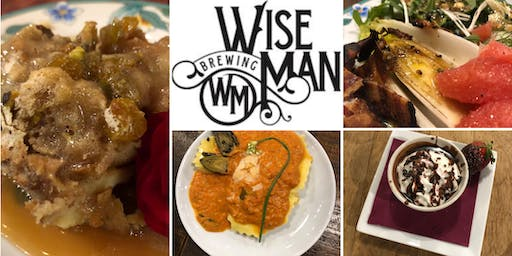 Beer Dinner featuring Chef Kelly DeLaire and Wise Man Brewing