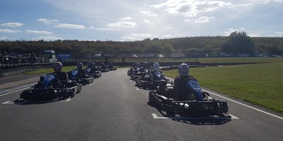 Team karting endurance race at Thruxton