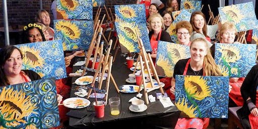 Sunflowers Brush Party - Tring