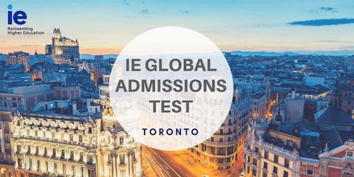 IE Global Admission Test - Toronto