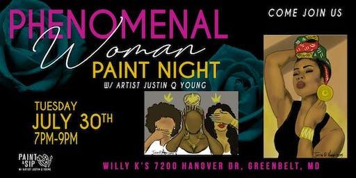 Phenomenal Woman Paint Night