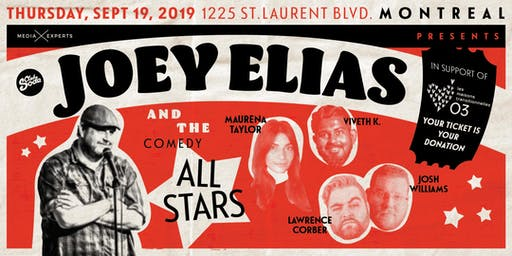 Joey Elias and the Comedy All-Stars: A Benefit Show for On Our Own