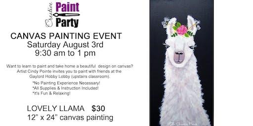 Lovely Llama -- Saturday, August 3  9:30 am