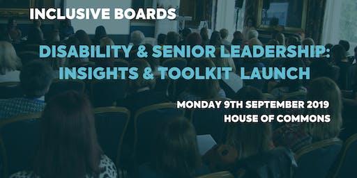 Disability & Senior Leadership: Insights & Toolkit Launch