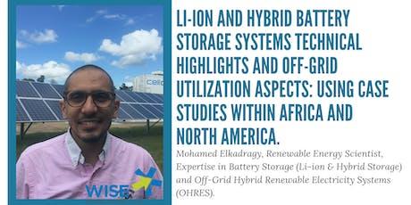 WISE Public Lecture: Mohamed Elkadragy, Renewable Energy Scientist  tickets