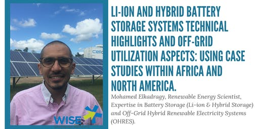WISE Public Lecture: Mohamed Elkadragy, Renewable Energy Scientist