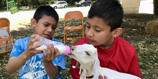 7/27 Storytelling and Kid Goats at the Greensboro Farmers Curb Market