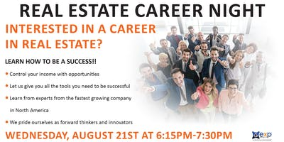 August Real Estate Career Night
